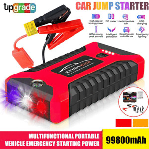 Portable 99800mAh Car Jump Starter Vehicle Booster 12V Power Bank Battery Auto