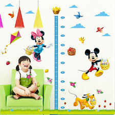Cute Mickey Mouse Minnie Wall Sticker Kids Height Measure Chart Home Decor Decal
