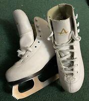 Girls White Ice Skates American Athletic Figure Skate Youth Size 1 Junior