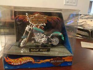New Hot Wheels Harley-Davidson Softail Deuce Motorcycle 1:18  Die-Cast