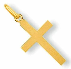 9CT GOLD CROSS PENDANT SOLID Small