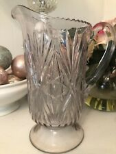 New listing Vintage Large Heavy Pressed Glass Pitcher Cottage Chic