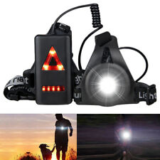 Night LED Jogging Running Chest Belt Light USB Rechargeable Torch Safety Light G