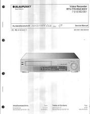 Blaupunkt original Service Manual para vídeo RTV 770 baugl. Panasonic NV-HD 100