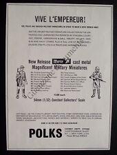 Publicité POLKS FIGURINES VIVE L'EMPEREUR  advert 1993