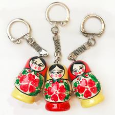 3 Schlüsselanhänger - Matroschka Babuschka - Taschenanhänger -  Für Geschenke