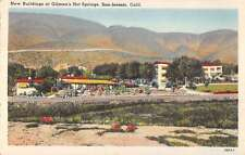 new buildings at gilman hot srprings san jacinto california L4644 antique postca