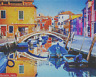 JIGSAW PUZZLE QUALITY 500 PIECE BURANO ITALY SCENE COLOURFUL TRADITIONAL BOXED