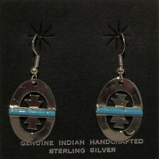 Native American Jewelry - Navajo - Sterling Silver Earrings