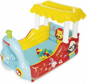 FISHER PRICE Train Ball Pit Play Preschool Indoor Outdoor Inflatable Bouncer NEW