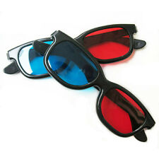 2x Red and Blue 3D Glasses For TV Dimensional Anaglyph Movie DVD Game Picture