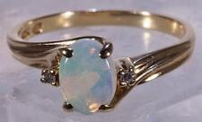 Opal Ring w/ Diamond Accents 10 K Size 6