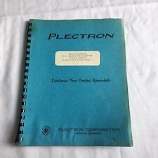 Lot of 2 Plectron Corporation Service Manuals FM Transistor Receivers