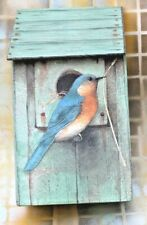"Marjolein Bastin Faux Birdhouse Box with Lid, Hallmark 8.5"" tall Free Ship!"
