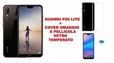 SMARTPHONE HUAWEI P20 LITE BLACK ITALIA BRAND 64GB + COVER E PELLICOLA GRATIS