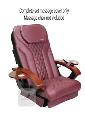 BURGUNDY Massage complete back seat cushion upholstery cover pedicure spa chair