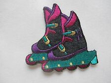 #3486 Roller Skate Shoes Embroidery Iron On Applique Patch