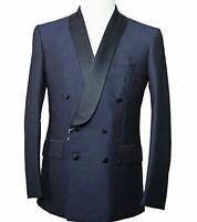 Orazio Luciano Napoli Wool & Mohair Blue Tuxedo Suit 38 (EU 48) Kiton La Vera