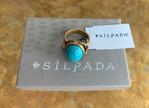 Turquoise Silpada Ring Sterling Silpada Designs Ring 925 Silver Modernist Statement Southwest Mexican Style Modern Jewelry R2017