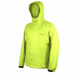 Grundens Neptune 319 Hooded Commercial Fishing Jacket Rain Gear Hi-Vis Yellow L