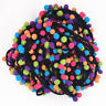 1/5 Yard Rainbow Pom Pom Lace Tassel Trim Balls Fringe Ribbon Cord DIY Craft 3cm