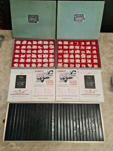 VINTAGE KENNETT PRICE BOARD & 2 BOXES OF MARKERS NUMBERS/LETTERS SIGN