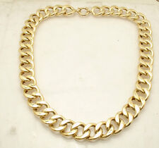"18"" Ladies All Polished Curb Link Necklace Real 18K Yellow Gold QVC 57.9gr"