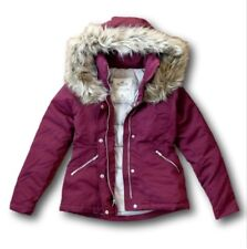 NWT Hollister by Abercrombie&Fitch Down Anorak Women's Ski Jacket Coat Burgundy