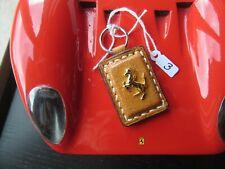 Porte-clefs clés CAVALLINO FERRARI or sur vrai CUIR gold on real LEATHER keyfob