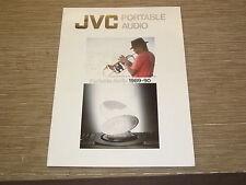 JVC Vintage portable audio boombox boom box 1989  original catalogue