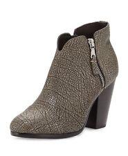 New Rag & Bone 'Margot Metallic Textured Leather Ankle Boots Size 35/5 $495.00