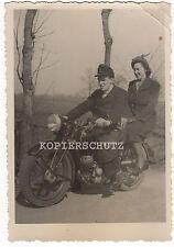 Vecchia fotografia Oldtimer Moto del 1940/1950