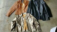 Lot of 3 women's Medium Jackets: Wilson's Leather, Erin Londo, Croft Barrow