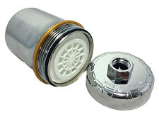 Chrome HIGH QUALITY Shower Filter KDF/Carbon REMOVES CHLORINE + CHEMICALS 39-15