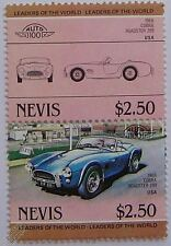 1966 SHELBY COBRA ROADSTER 289 Car Stamps (Leaders of the World / Auto 100)