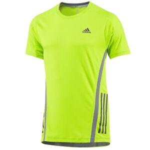 Adidas Supernova Men's Running Shirt Sports T-Shirt Fitness Neon Yellow/Green