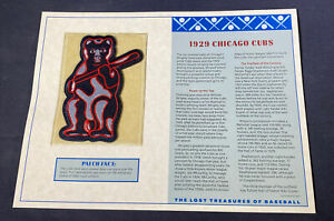 Willabee & Ward Lost Treasures Of Baseball Collection 1929 Chicago Cubs Patch