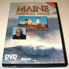 DVD Maine America's Coast narrated by Jack Perkins 50 min Music John Cooper.