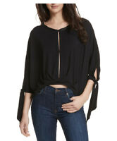 Free People Womens Keepin On OB749066 Top Relaxed Black Size XS