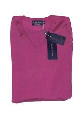 $995 Ralph Lauren Purple Label Mens Italy V Neck Light Knit Cashmere Sweater New