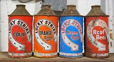 Lucky Strike Soda Cone Top Cans. 4 Different Flavors. Vancouver B.C. Canada.