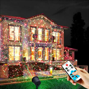 Outdoor Christmas Laser Projector Lights Waterproof Garden Stage Party Decor