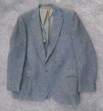 vintage men's Harris Tweed gray charcoal diagonal weave  blazer  size 42R