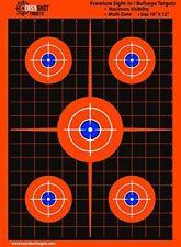 Bullseye Shooting Targets High Visibility Bright Fluorescent Orange Pack of 100
