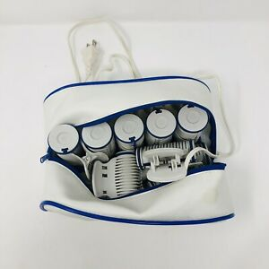 Conair Curl 'n Carry 10 Hot Rollers TS10 Travel Case Dual Voltage Pageant Clips