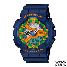 CASIO G-SHOCK DIGITAL QUARTZ BLUE RESIN GA-110FC-2ADR UNISEX'S WATCH