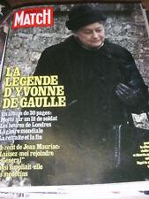 Paris Match N° 1591 23 novembre 1979 Mort d' Yvonne de Gaulle Elisabeth Huppert