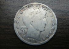 OLDIE 1910-S BARBER or LIBERTY HEAD SILVER 50 Cent Coin 109 years old ! SILVER !