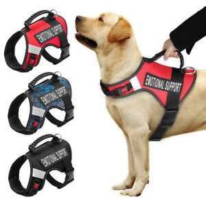 Emotional Support Dog Harness Reflective Service Mesh Vest for Dogs & 2 Patches