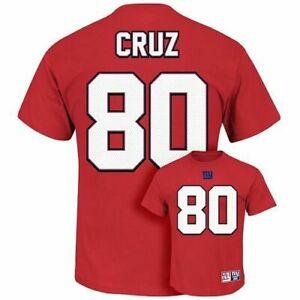 Men's Majestic NFL Team Apparel New York Giants Victor Cruz Tee, Red, MSRP $32